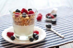 Natural yogurt with berries